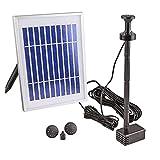 CLGarden Solar Pumpe Springbrunnen NKASP4 kleine Solarpumpe mit Akku und LED Teichpumpe für Miniteich Wasserspeier