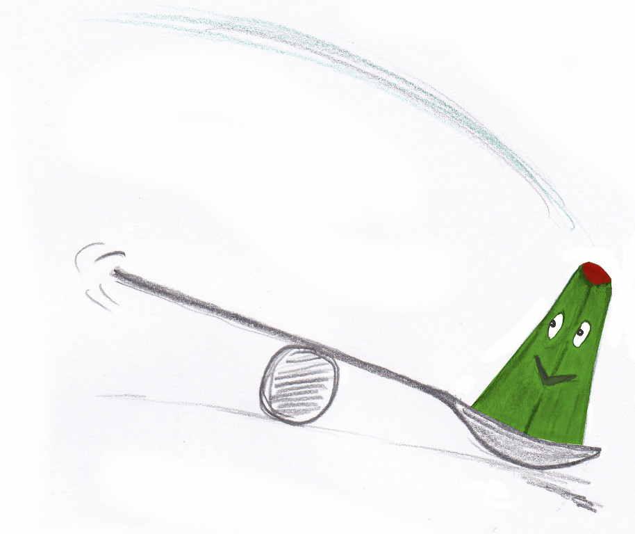 Frosch auf der Wippe
